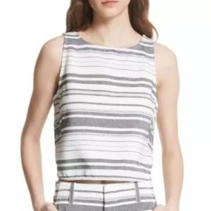 Joie Stripe Cotton Twill Top (Never Worn)